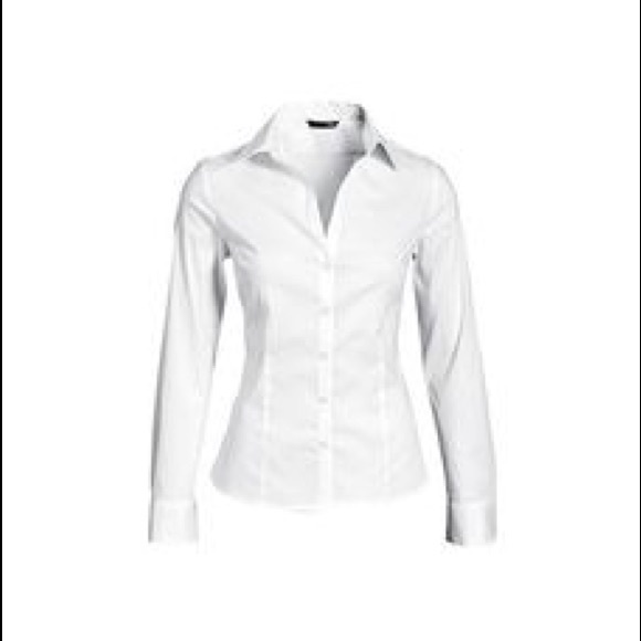 2ca0795f67 H M Women s fitted white button up blouse